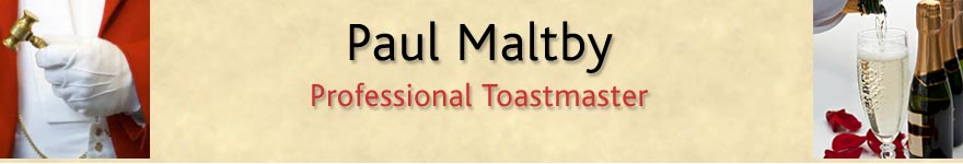 Paul Maltby Professional Toastmaster